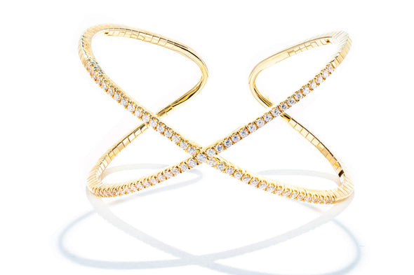 Gabriel New York 14K Yellow Gold Bangle Bracelet BG3880