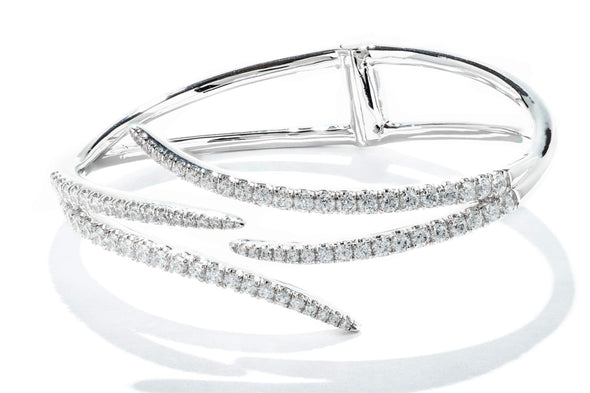 Gabriel New York 14K White Gold Bangle Bracelet