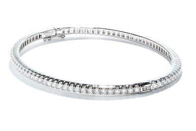 Gabriel New York 14K White Gold Bangle Bracelet JTV72WM4