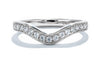 Unique Settings of NY 18K White Gold Classic Wedding Band WB01078