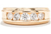 Royal Jewelry 14K Yellow Gold Diamond Channel Set Gents Ring