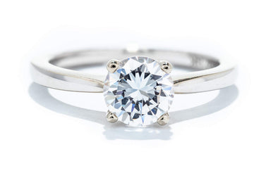 Noam Carver 14K White Gold Solitaire 1ct Engagement Ring B018-01A