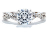 Unique Settings of NY 18K White Gold Solitaire Engagement Ring R01107