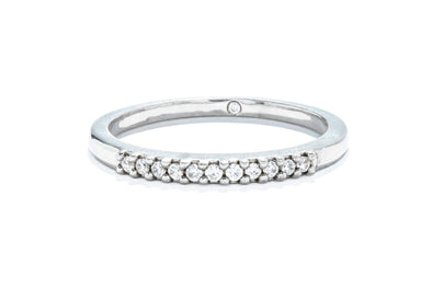 Gabriel & Co 14K White Gold 0.09ctw Round Contemporary Diamond Anniversary Band