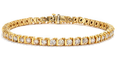 Adele Diamond 14k Yellow Gold 3ctw Diamond Tennis Bracelet