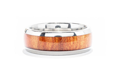 Lashbrook Titanium Men's Wedding Band with Redheart Inlay 8D15