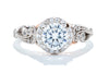 Adele Diamond 14K White & Rose Gold 1ct Diamond Halo Engagement Ring