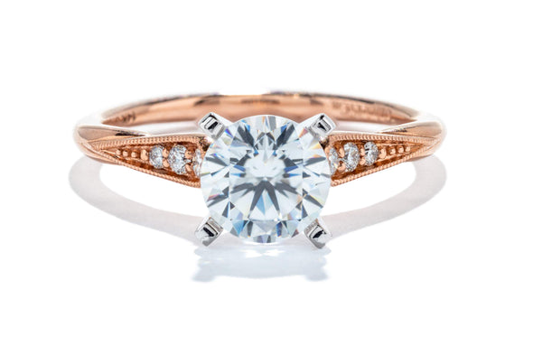 Gabriel New York 14K White & Rose Gold Diamond Contemporary Engagement Ring