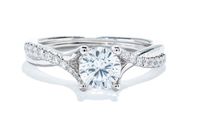 Gabriel New York Platinum Diamond Contemporary Engagement Ring