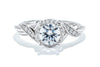 Gabriel New York 14K White Gold Diamond Halo Engagement Ring