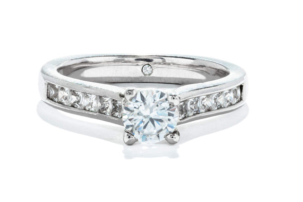 Adele Diamond 14K White Gold 0.50ct Diamond Contemporary Engagement Ring