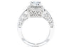 Gabriel New York 14K White Gold Halo Engagement Ring ER5854W44JJ