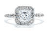 Gabriel New York 14K White Gold Halo Engagement Ring ER7266