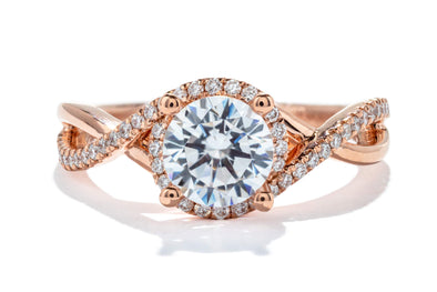 Gabriel New York 14K Rose Gold Diamond Halo Engagement Ring