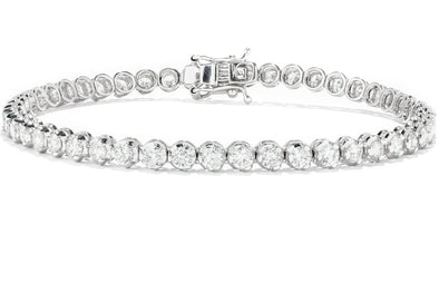 Malakan Diamond Co. 18K White Gold 4.05ctw Diamond Tennis Bracelet 134583