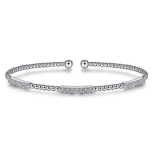 Gabriel & Co 14K White Gold Fashion Bangle