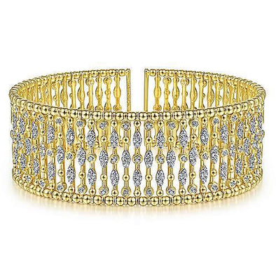 Gabriel & Co 14K Yellow Gold Fashion Bangle