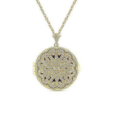 14k Yellow Gold & Diamond Lusso Locket