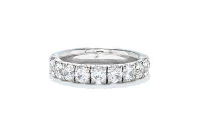 Gabriel & Co 14K White Gold Diamond 1.41ctw Round Contemporary Diamond Band