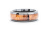 Lashbrook Zirconium Men's Wedding Band with Hardwood Inlay