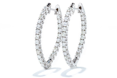 Adele Diamond 14K White Gold 1.74ct Diamond Earrings IGC068928