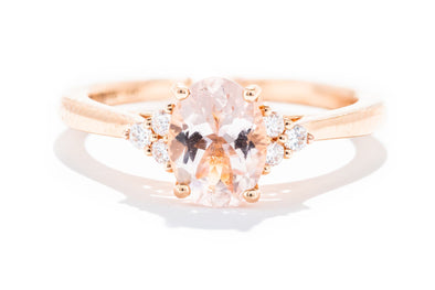 Noam Carver 14K Rose Gold Oval Morganite & Diamonds Engagement Ring
