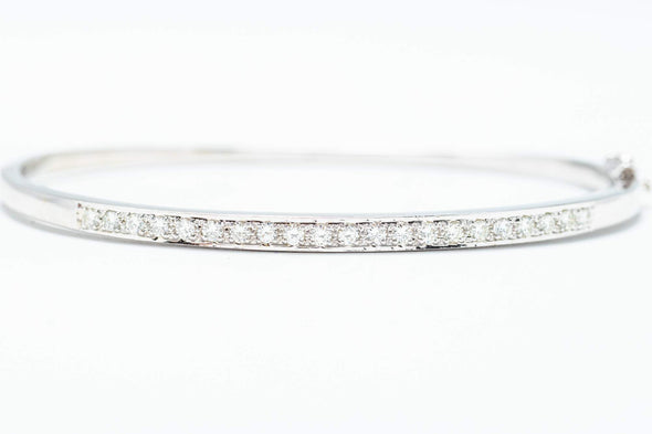 Adele Diamond 14K White Gold 1ctw Diamond Bracelet