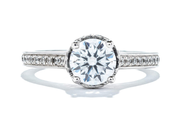 Noam Carver 14K White Gold 1ct Diamond Contemporary Engagement Ring