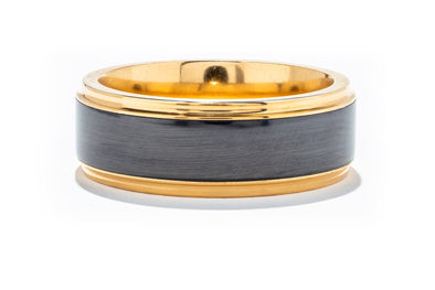 Lashbrook 14K Yellow Gold Elysium Men's Wedding Band