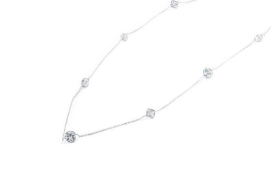 Adele Diamond 14K White Gold 4.45ctw Diamonds by Yard Necklace Fashion Necklace 20""