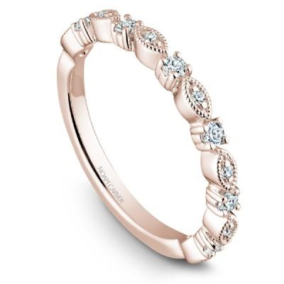 Noam Carver 14K Gold Stackable Ring - 13 Round Diamonds STB10-1M