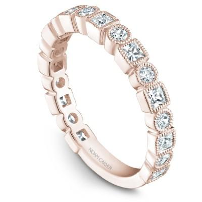 Noam Carver 18K Gold Stackable Ring - 19 Round Diamonds STB18-1S-D