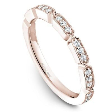 Noam Carver 14K Gold Stackable Ring - 23 Round Diamonds STB19-1M-D
