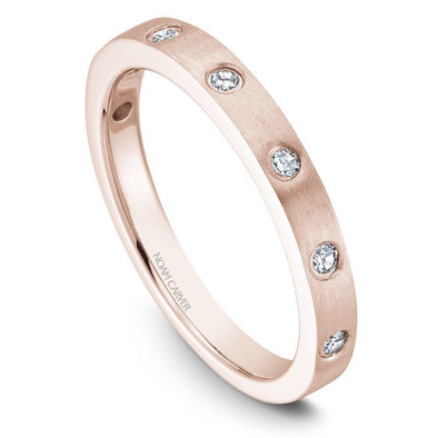 Noam Carver 14K Gold Stackable Ring - 7 Round Diamonds STB2-1M-D