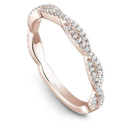 Noam Carver 14K Gold Stackable Ring - 68 Round Diamonds STB20-1M-D