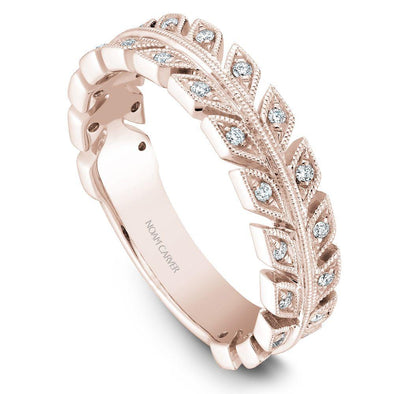 Noam Carver 18K Gold Stackable Ring - 28 Round Diamonds STB3-1S-D