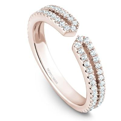 Noam Carver 14K Gold Stackable Ring - 66 Round Diamonds STB37-1M-D