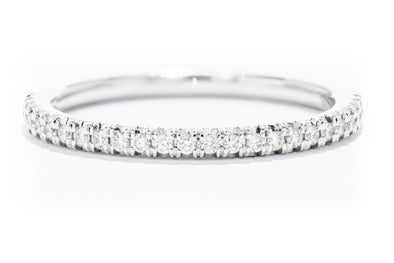 Diamonds Forever 14K White Gold Diamond Wedding Band W900B