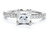 Noam Carver 14K White Gold Solitaire Engagement Ring B038-01A
