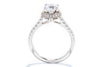 Noam Carver 14K White Gold Halo Engagement Ring B083-01A