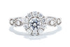 Noam Carver 14K White Gold Halo Engagement Ring S119-01A