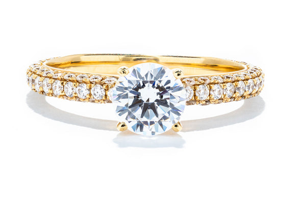 Noam Carver 14K Yellow Gold Solitaire Engagement Ring B054-01A