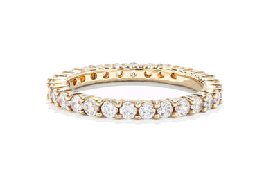Gabriel & Co 14K Yellow Gold Diamond 1.02ctw Prong Set Contemporary Eternity Band