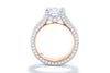 Unique Settings of NY 18K White & Rose Gold Contemporary Engagement Ring R01090