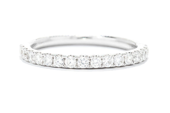 14K White Gold Diamond Micropave Wedding Band W904B