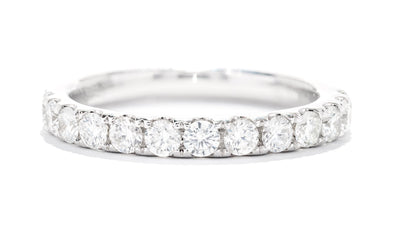 Diamonds Forever 14K White Gold Diamond Micropave Women's Wedding Band