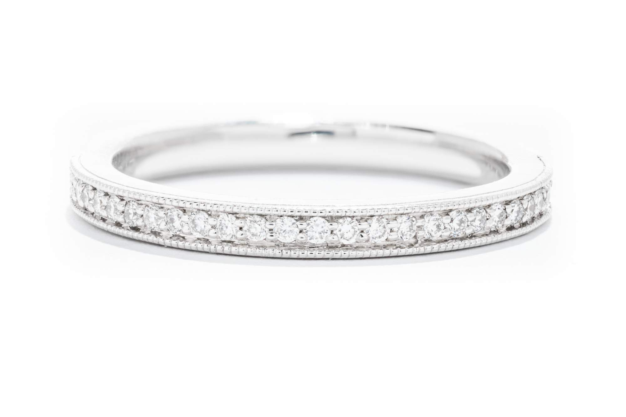 7a6057c23e3f Diamonds Forever 14K White Gold Diamond Women's Wedding Band W980N – Adele  Diamond
