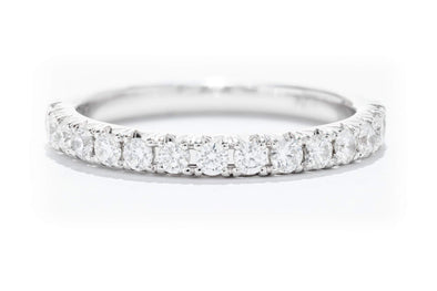 Diamonds Forever 14K White Gold Diamond Women's Wedding Band