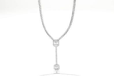Royal Jewelry 14K White Gold 2.65ctw Diamond Necklace WC8940D