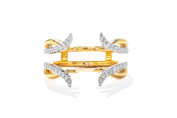Gabriel & Co 14K White-Yellow Gold 0.27ctw Contemporary Enhancer Diamond Anniversary Band